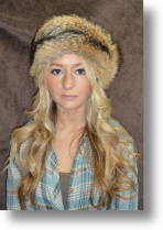 Fur Hat - Coyote Headband