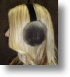 Fur Ear Muffs - Brown Sheared Ear Muffs