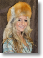 Fur Hat - Red Fox Mountain Man No Face