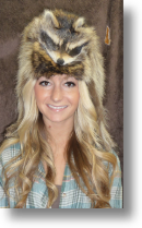 Fur Hat -- Racoon With Taxidemy Face