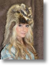 Fur Hat - Racoon With Taxidemy Face