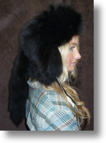Fur Hat - Black Fox Sportsman Hat