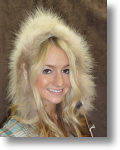 Fur Hat - Ladies Bonnet Wolf Hat