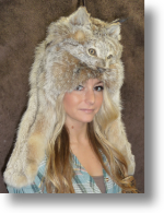 Fur Hat - Lynx Mountain Man with Taxidemy Face