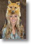 Fur Hat - Red Fox Mountain Man with Taxidemy Face